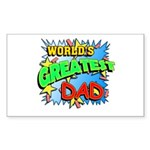 World's Greatest Dad Rectangle Sticker