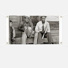 Street Musicians, 1938 Banner