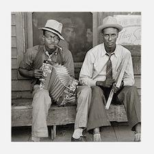 Street Musicians, 1938 Tile Coaster