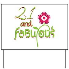 Fabulous 21 Celebration Yard Sign