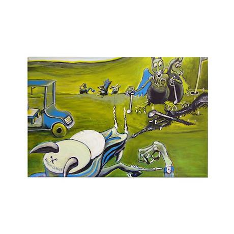 Dragon Golf Rectangle Magnet