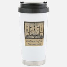 Emblems of Masons Stainless Steel Travel Mug