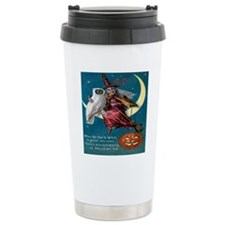 Vintage Halloween - Owl Travel Coffee Mug