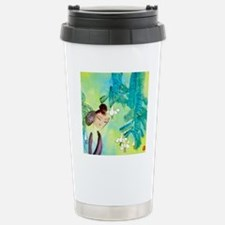 Green Motif Oriental Ar Stainless Steel Travel Mug