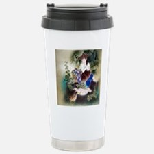 Swans, duck Motif Chine Stainless Steel Travel Mug