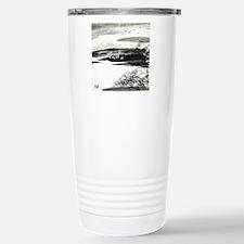 Black, Gray & White Des Stainless Steel Travel Mug