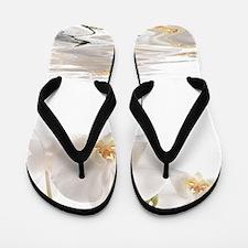 Orchids Reflection Flip Flops