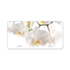 Orchids Reflection Aluminum License Plate