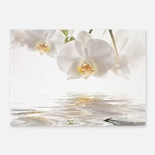 Orchids Reflection 5'x7'Area Rug