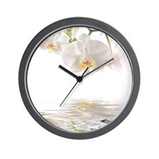 Orchids Reflection Wall Clock