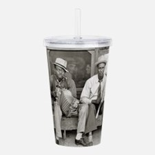 Unique Vintage music Acrylic Double-wall Tumbler