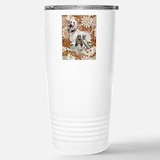 Afghan Hound Floral Travel Mug