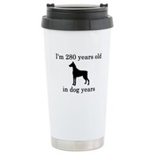 40 birthday dog years doberman Travel Mug