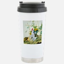 Nature & Rooster Motif Stainless Steel Travel Mug