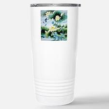 Oriental Floral & Bird  Stainless Steel Travel Mug