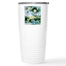 Oriental Floral & Bird  Travel Mug