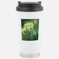 Beautiful Flower Green  Stainless Steel Travel Mug
