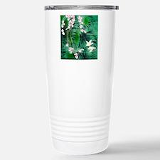 Floral & Bird Motif Stainless Steel Travel Mug