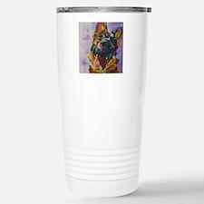 German Shepherd Pup Art Travel Mug
