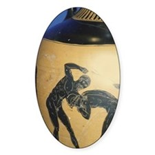 Greek Vase. Wrestlers and Umpire. 5 Decal