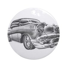 Cute 57 chevy Ornament (Round)