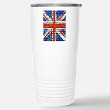 Grunge British Flag Stainless Steel Travel Mug