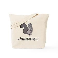 Bird feeder empty Tote Bag