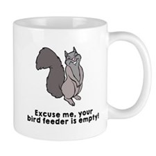 Bird feeder empty Mug