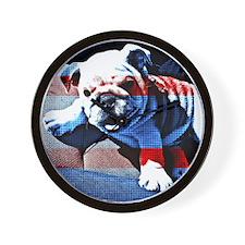 Americana puppy Wall Clock