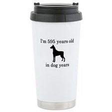 85 birthday dog years doberman Travel Mug