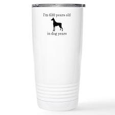 90 birthday dog years doberman Travel Mug