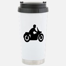 MOTORCYCLE BIKER GUY Travel Mug