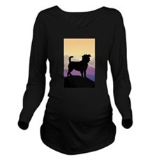 Purple Mountains Aff Long Sleeve Maternity T-Shirt