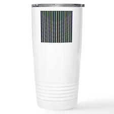 Colorful Green Yellow P Travel Mug