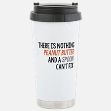 Peanut Butter and Spoon Stainless Steel Travel Mug