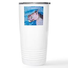 Funny pink pony Travel Mug