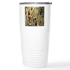 Naples Street Scene; Pa Travel Mug