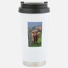 Highland Cow Standing b Stainless Steel Travel Mug