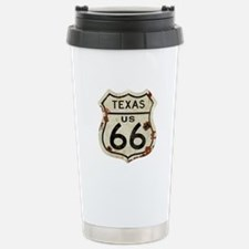 Texas Route 66 - Stainless Steel Travel Mug