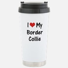 I Heart My Border Collie Stainless Steel Travel Mu