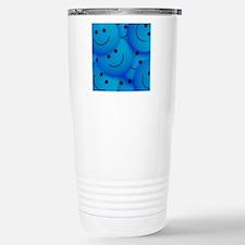 Blue Smiley Travel Mug