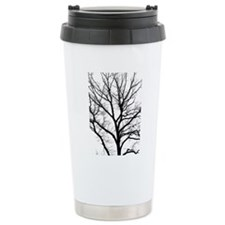 A one color tree filter Travel Mug