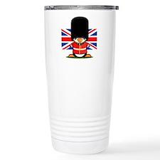British Soldier Penguin Travel Coffee Mug