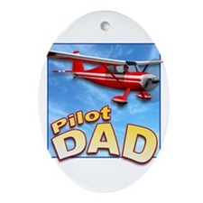 Pilot Dad Oval Ornament