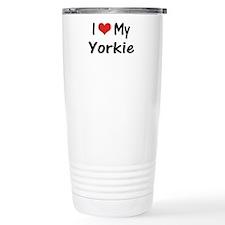 I Heart My Yorkie Travel Mug
