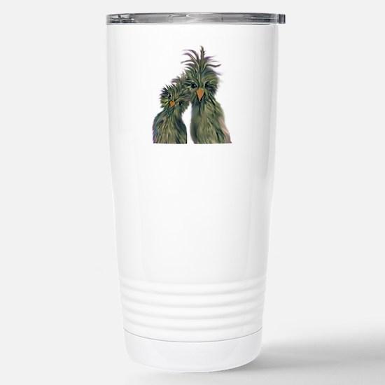 DODO DOODLE LOVE BIRDS Stainless Steel Travel Mug
