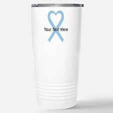 Personalized Light Blue Stainless Steel Travel Mug