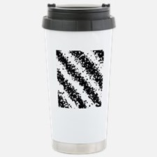 Monochrome Fashion Abst Stainless Steel Travel Mug