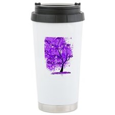 Purple Tree Art Travel Mug