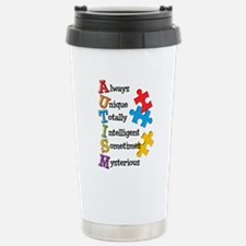 Autism Acrostic Travel Mug